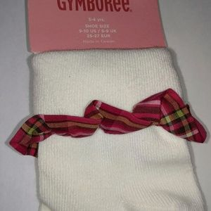 Gymboree Fall Homecoming Orange Plaid Girl/'s Tights nylons 3-4 years NWT